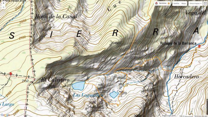 mapa raster IGN de las lagunillas